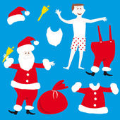 Christmas. Santa Claus Vector Illustration — Stock Vector