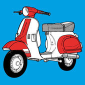 Scooter vector illustration — Stock Vector