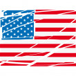 Vector USA flag - Stock Vector