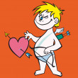 Cupid vector — Stock Vector #3413393