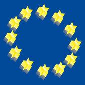Europe 3D vector illustration — Stock Vector