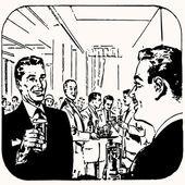 Cartoon retro vintage cocktail vector illustration — Stock Vector