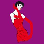Ilustración de vector pop mujer — Vector de stock