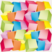 3d composition of cubes vector illustration — Stock Vector