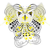 Abstract fantasy butterfly tattoo (Vector) — Stock Vector