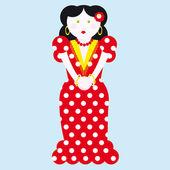 Tipik i̇spanyol flamenko vektör çizim — Stok Vektör