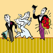 Design broken heart syndrome wedding vector illustration — Stock Vector