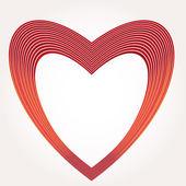 Heart Vector Illustration icons symbols Valentine day — Stock Vector