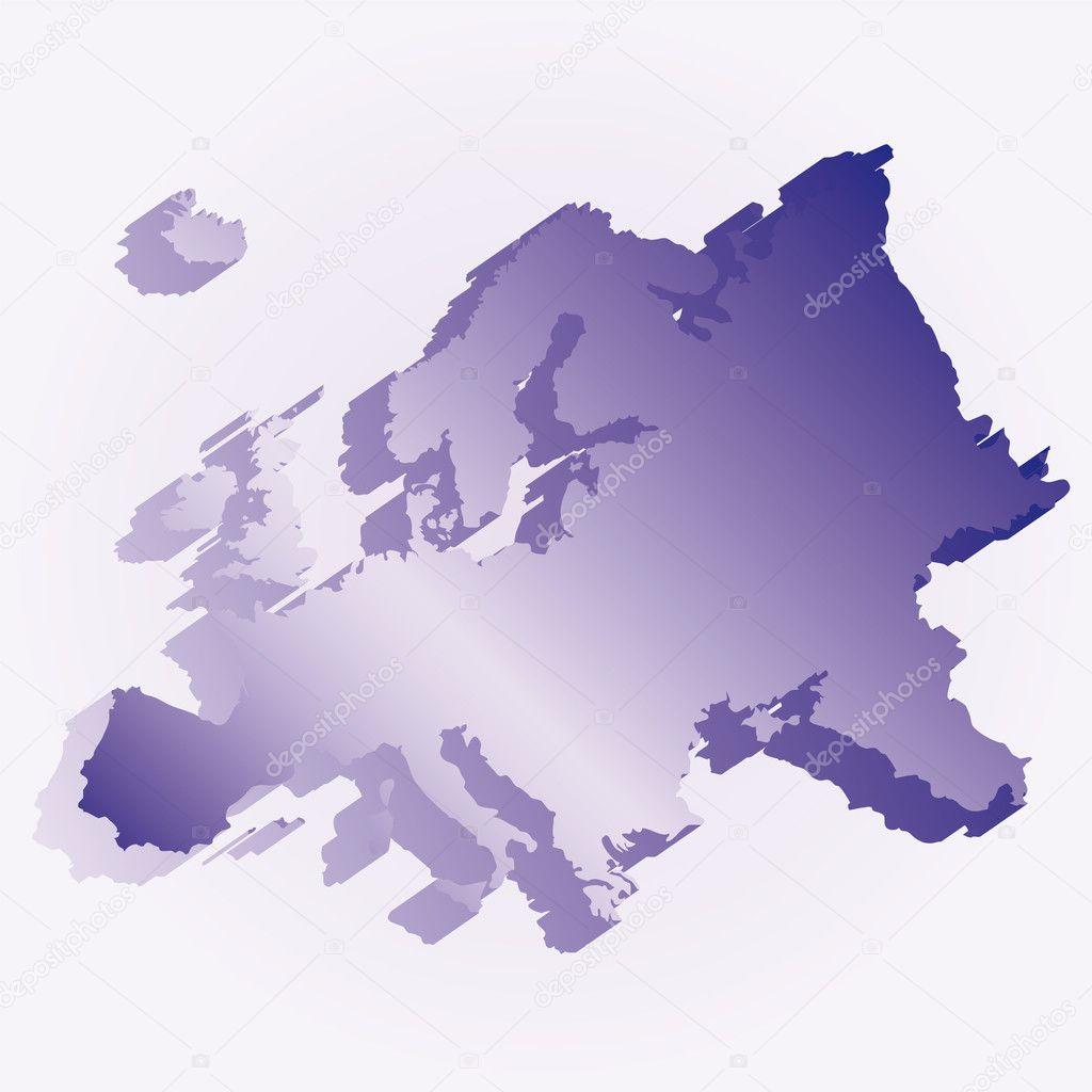 欧洲3d 旗地图 — 图库矢量图片#3412971