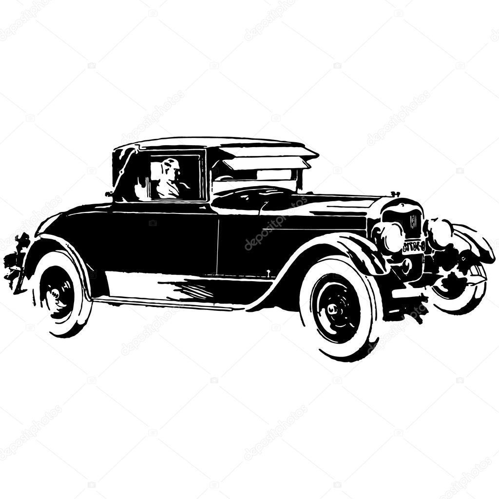 Old timer car vector