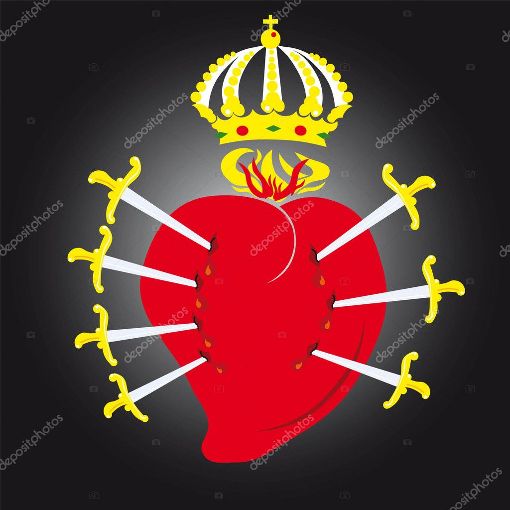 Heart Vector Illustration icons symbols Valentine day  — Stock Vector #3416088