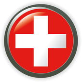 Glanzende knop vlaggen - Europa. vector iconen. — Stockfoto