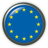 Glossy button flags - Europe. Vector icons. — Stock Photo