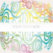 Banner background arabesque vector - Stock Vector