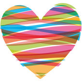 Ilustración vectorial de corazón — Vector de stock