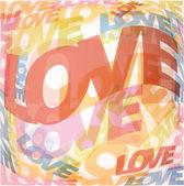Corazón de san valentín de palabras de amor — Vector de stock