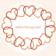 Background heart vector — Stock Vector