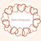 Bakgrunden hjärtat vektor — Stockvektor