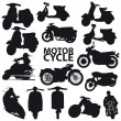 Motorcycle set - vector — Stock Vector