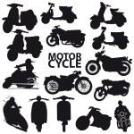 Motorcycle set - vector — Stock Vector #3706589