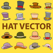 Fashion hat vector illustration — Stock Vector
