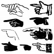 Set hand gestures — Stock Vector