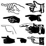 Set hand gestures — Stock Vector