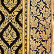 Native Thai style of Gilded Black Lacquer — Stock Photo