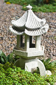 Japanese stone lantern — Stock Photo