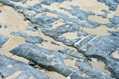 Stone and sand on beach — 图库照片