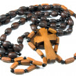 Stock Photo: Beads with cross