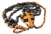 Beads with a cross — Stock Photo