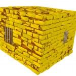 Golden jail — Stock Photo