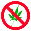 Постер, плакат: No hemp leaf sign