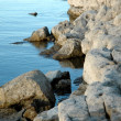 Stock Photo: Lake Taneycomo Beach Boulders