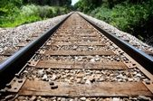 Down the tracks — Stock Photo