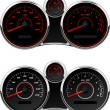 Stock Photo: Car Gauge sest