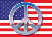 与铬和平标志的标志 — 图库照片