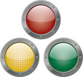 Red, Yellow, and Green Lights — Stock Photo