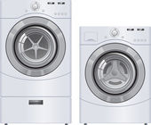 Wash Machine and Dryer — Stock Photo