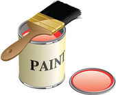 Paint Can and Brush — Stock Photo