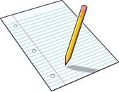 Pencil and Paper — Stock Photo