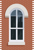 Arched topped window — Stock Photo