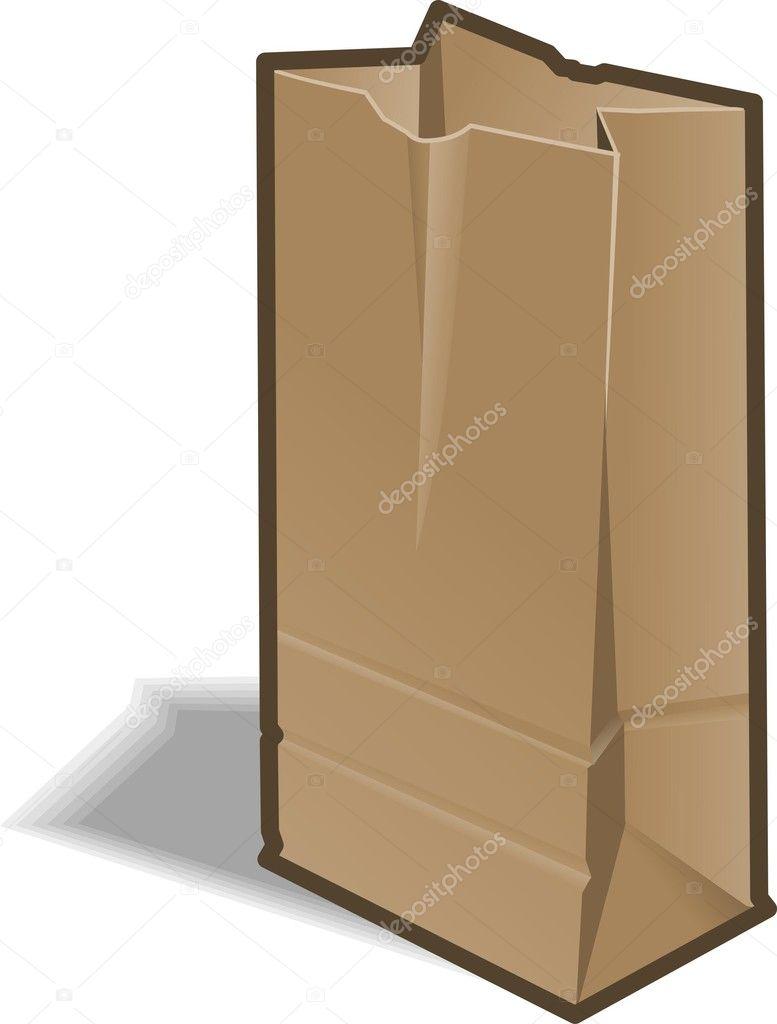 Brown Paper Bag Brown paper bag - stock image