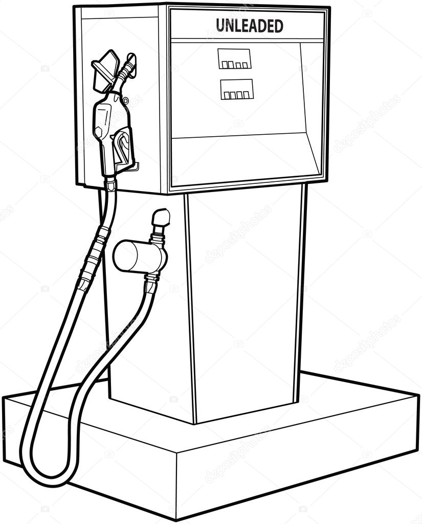 gas station coloring page - photo #8