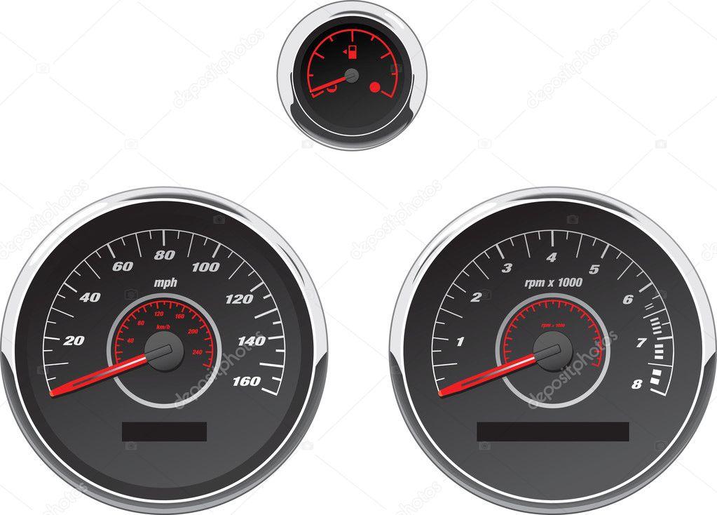 Automotive Gauge Sets : Automotive gauge set — stock photo befehr