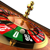 Casino Roulette on white — Stock Photo