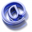 Email sign. Blue glass — Stock Photo