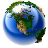 Miniature real Earth — Stock Photo