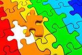 Puzzle colorful — Stock Photo